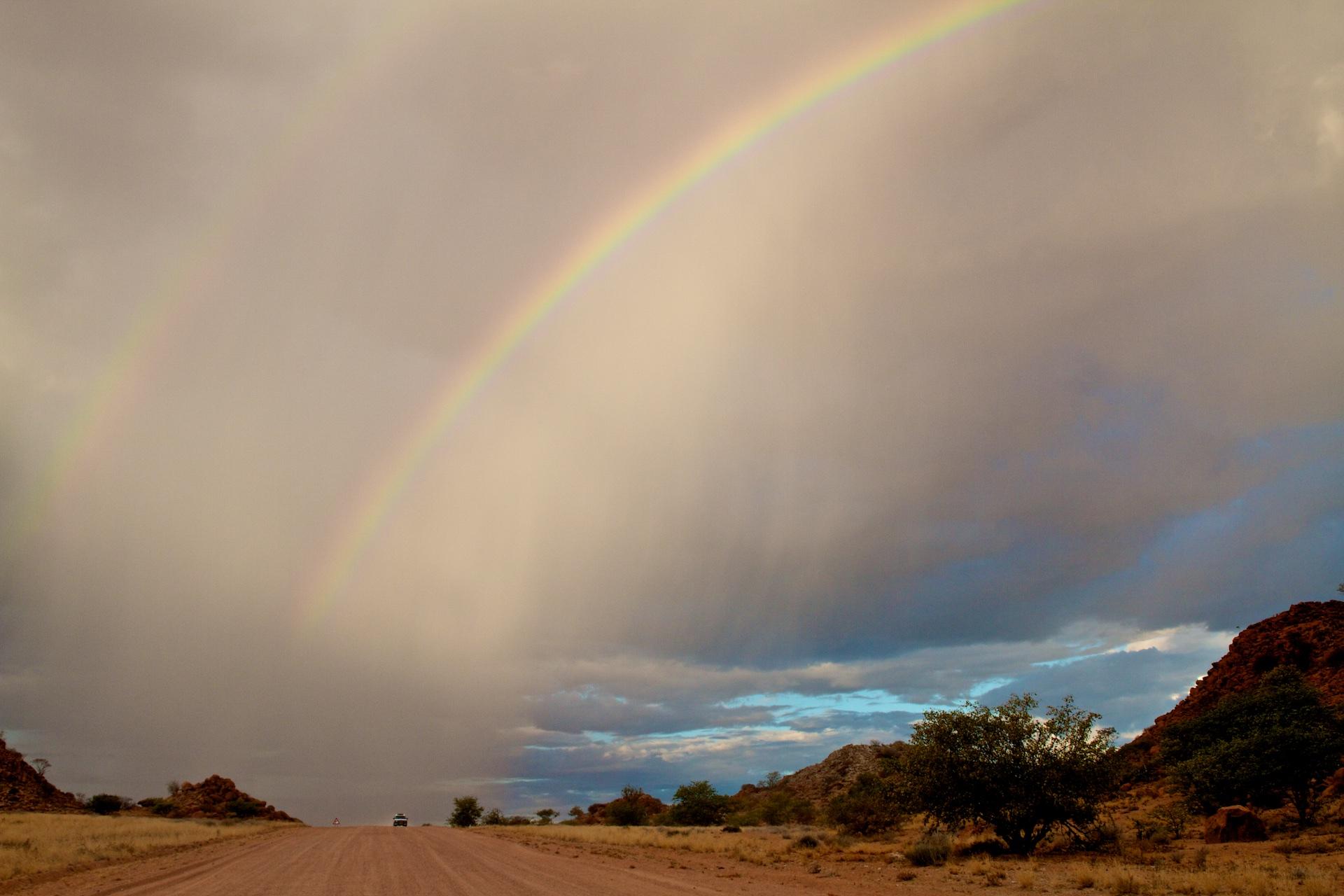 Bouřka v centrální Namibii